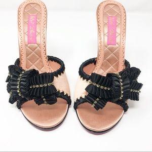Betsy Johnson | Pink Rasha Nude Satin Sandals